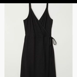 TWO H&M black AND burgundy wrap over dress